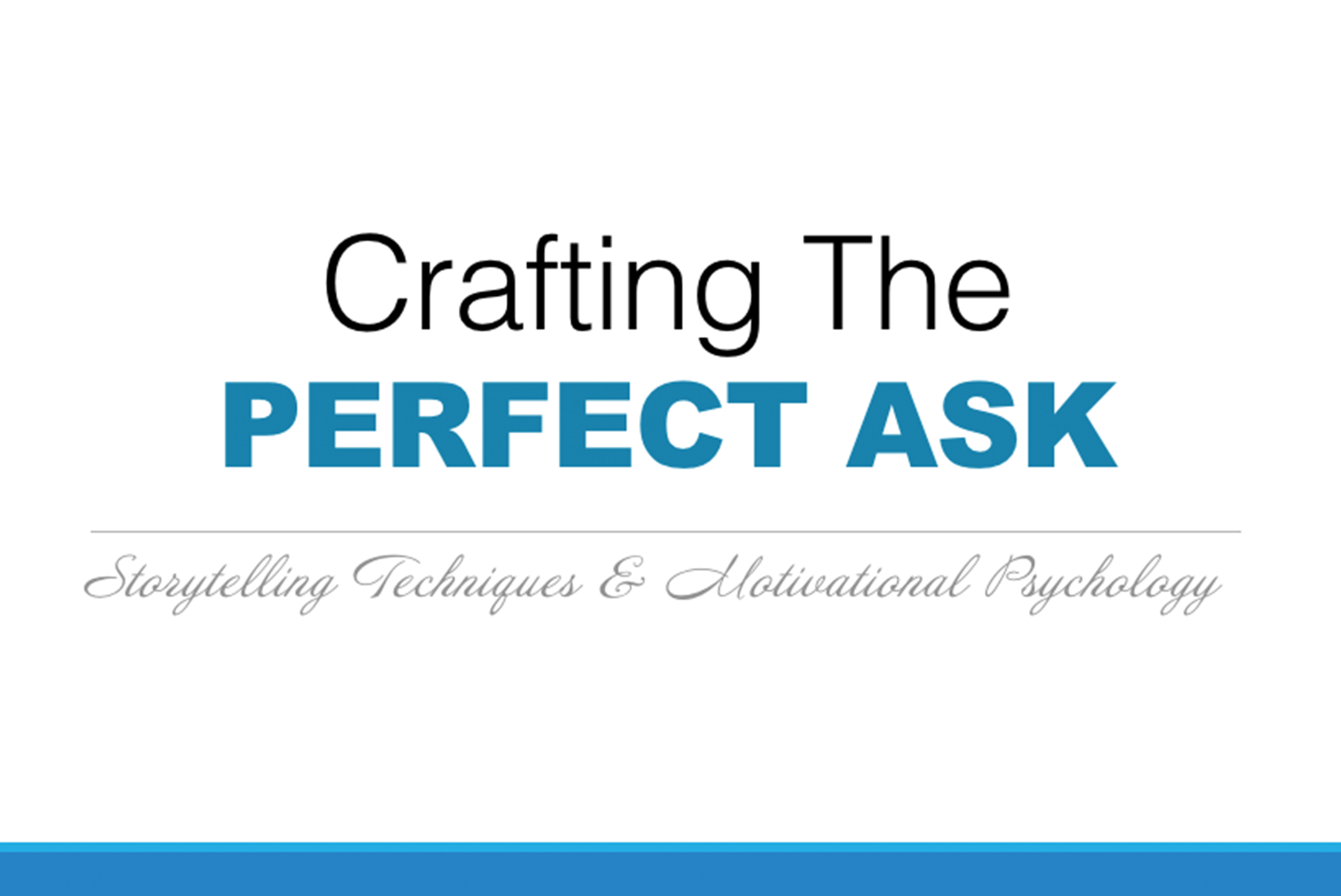 Craft Perfect Ask Storytelling Workshop